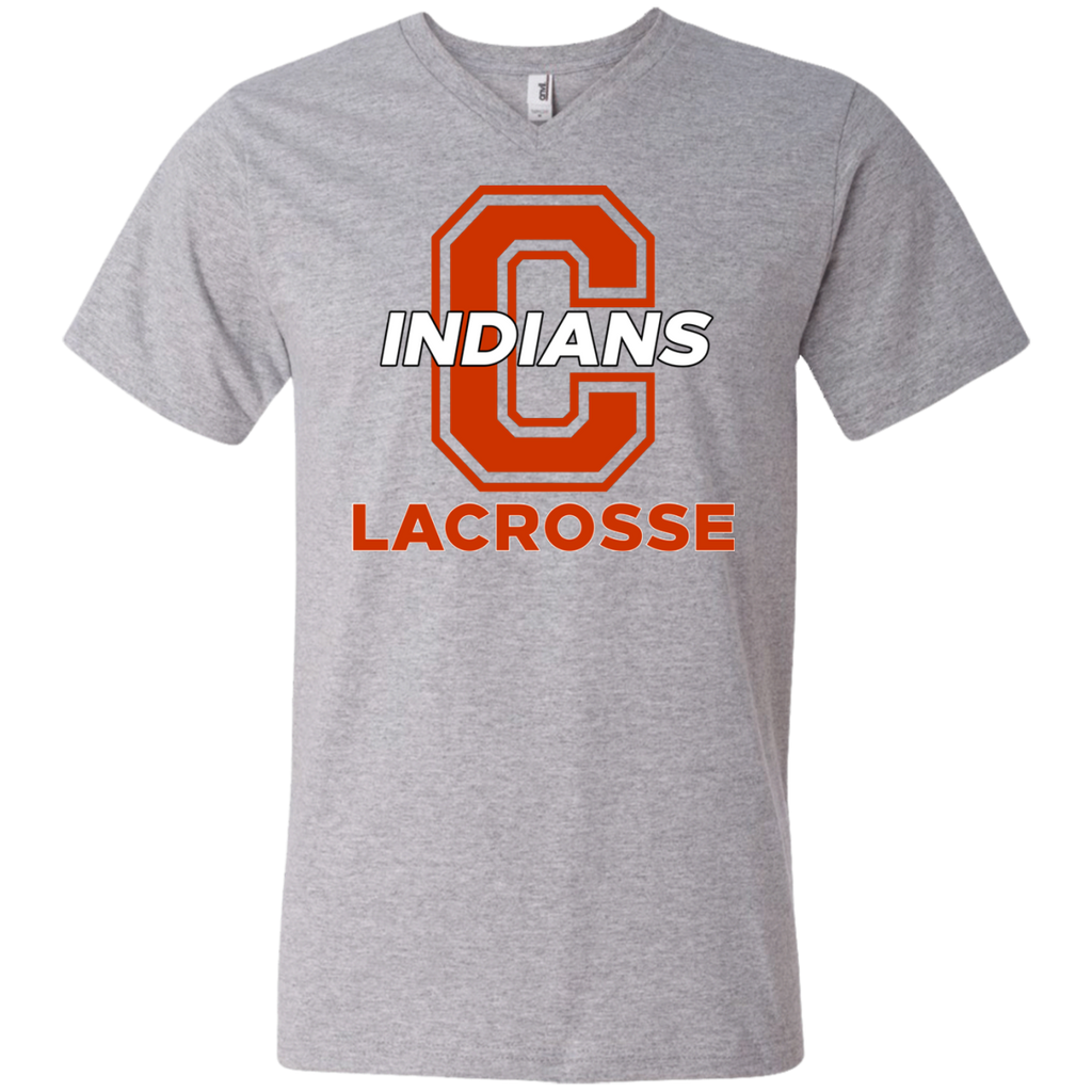Men's V-Neck T-Shirt - Cambridge Lacrosse - C Logo