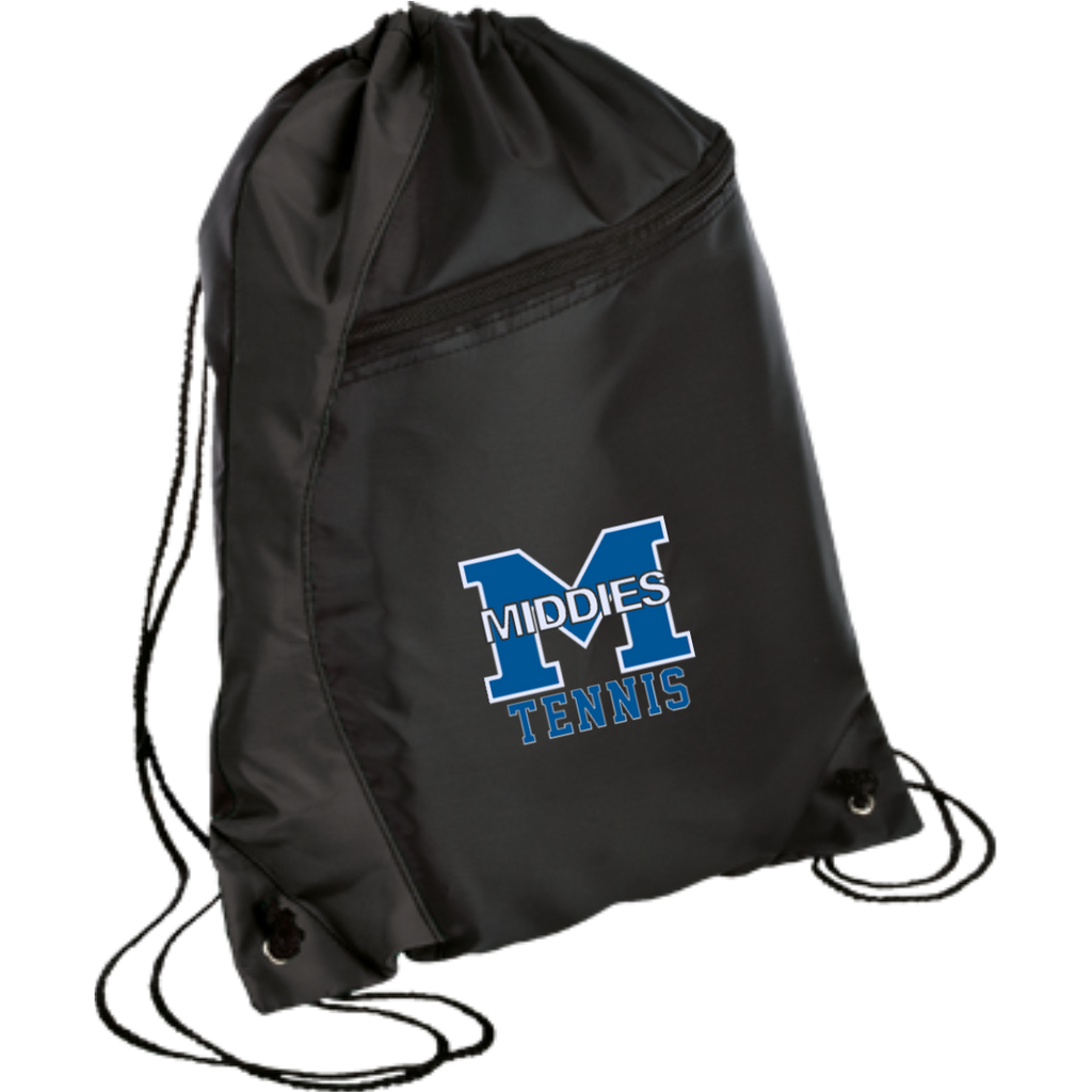 Drawstring Bag with Zippered Pocket - Middletown Tennis