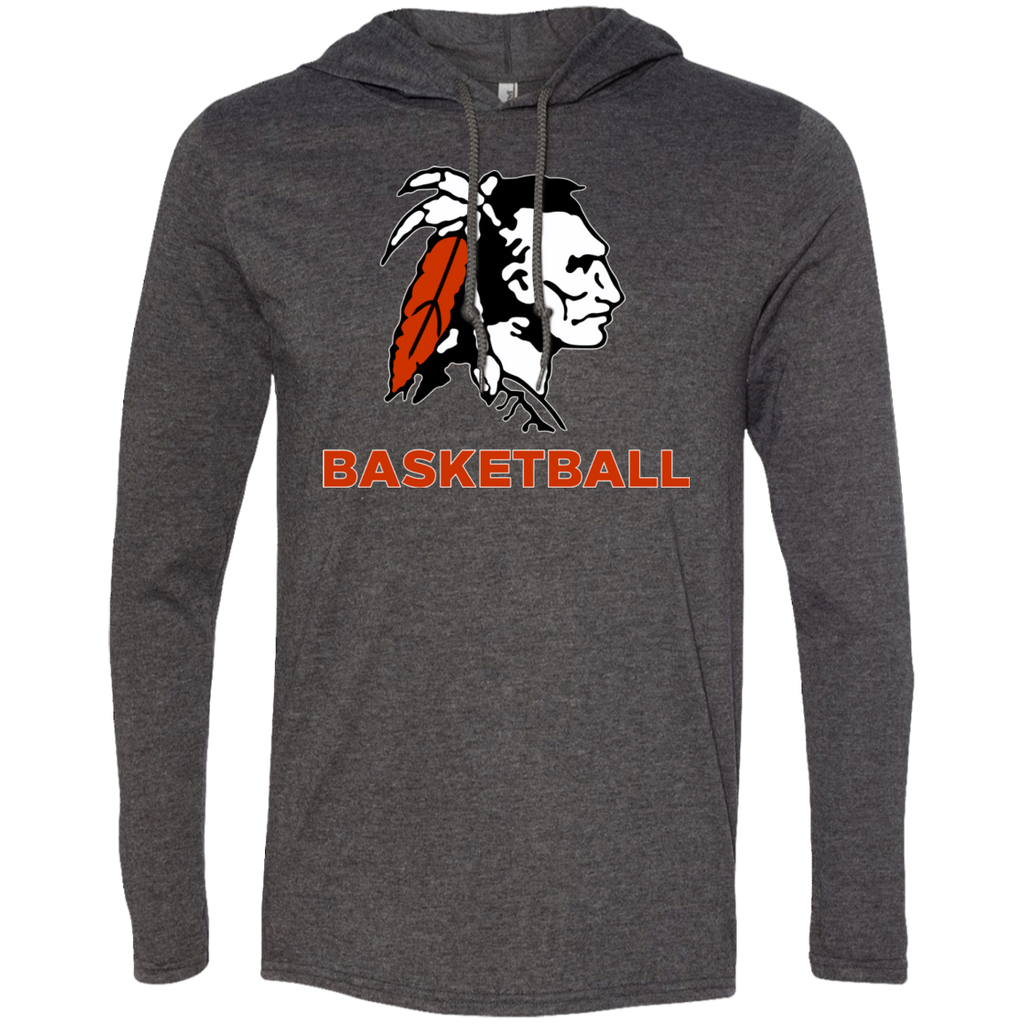 Men's T-Shirt Hoodie - Cambridge Basketball - Indian Logo
