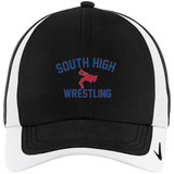 Wrestling Vector Logo v2 Outline_Pantone 354062 Nike Colorblock Cap