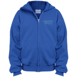 Youth Full-Zip Hooded Sweatshirt - Middletown Softball - Block Logo