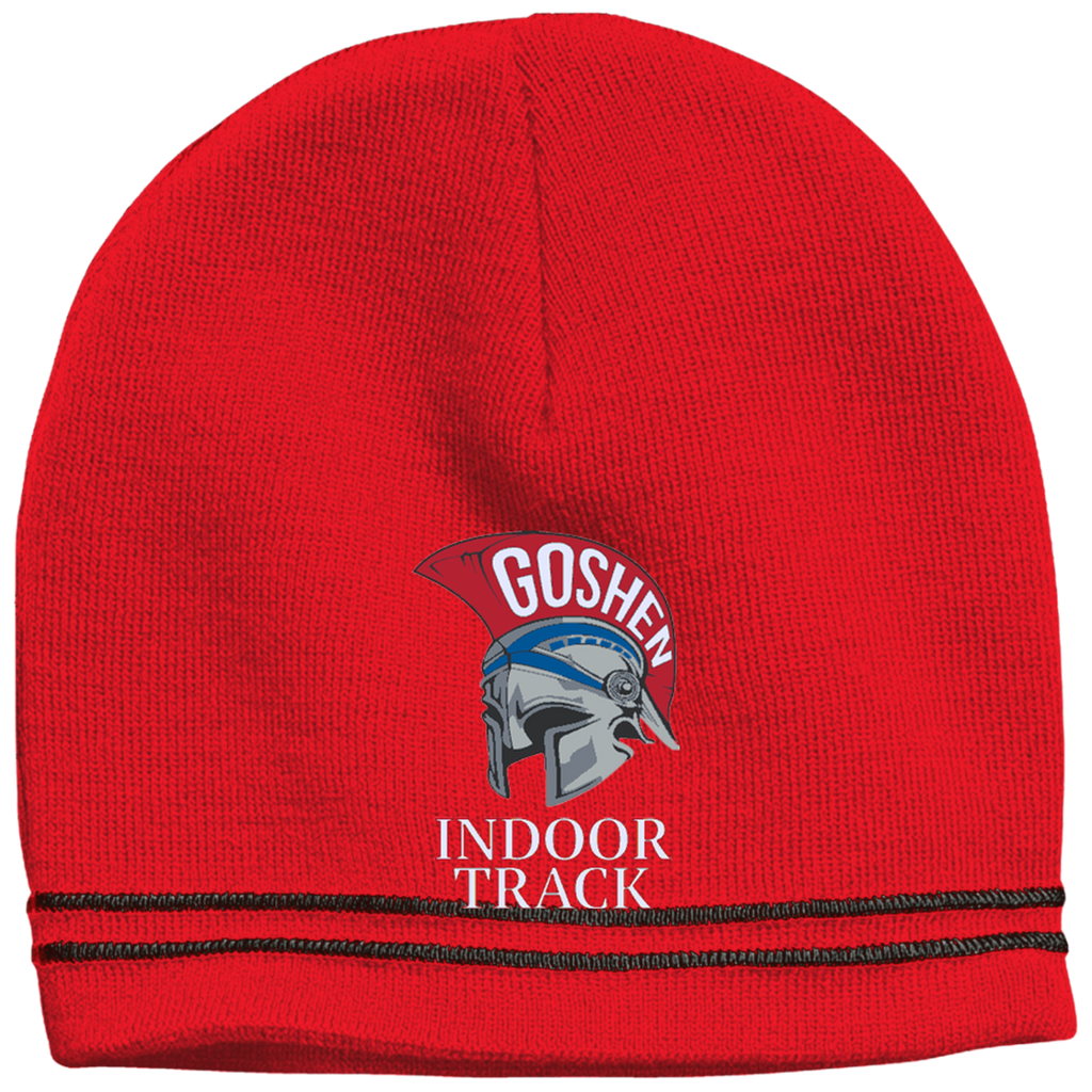 Colorblock Beanie - Goshen Indoor Track