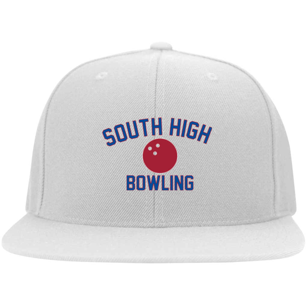 Bowling Vector Logo Outline_Pantone 6297F Yupoong Flat Bill Twill Flexfit Cap