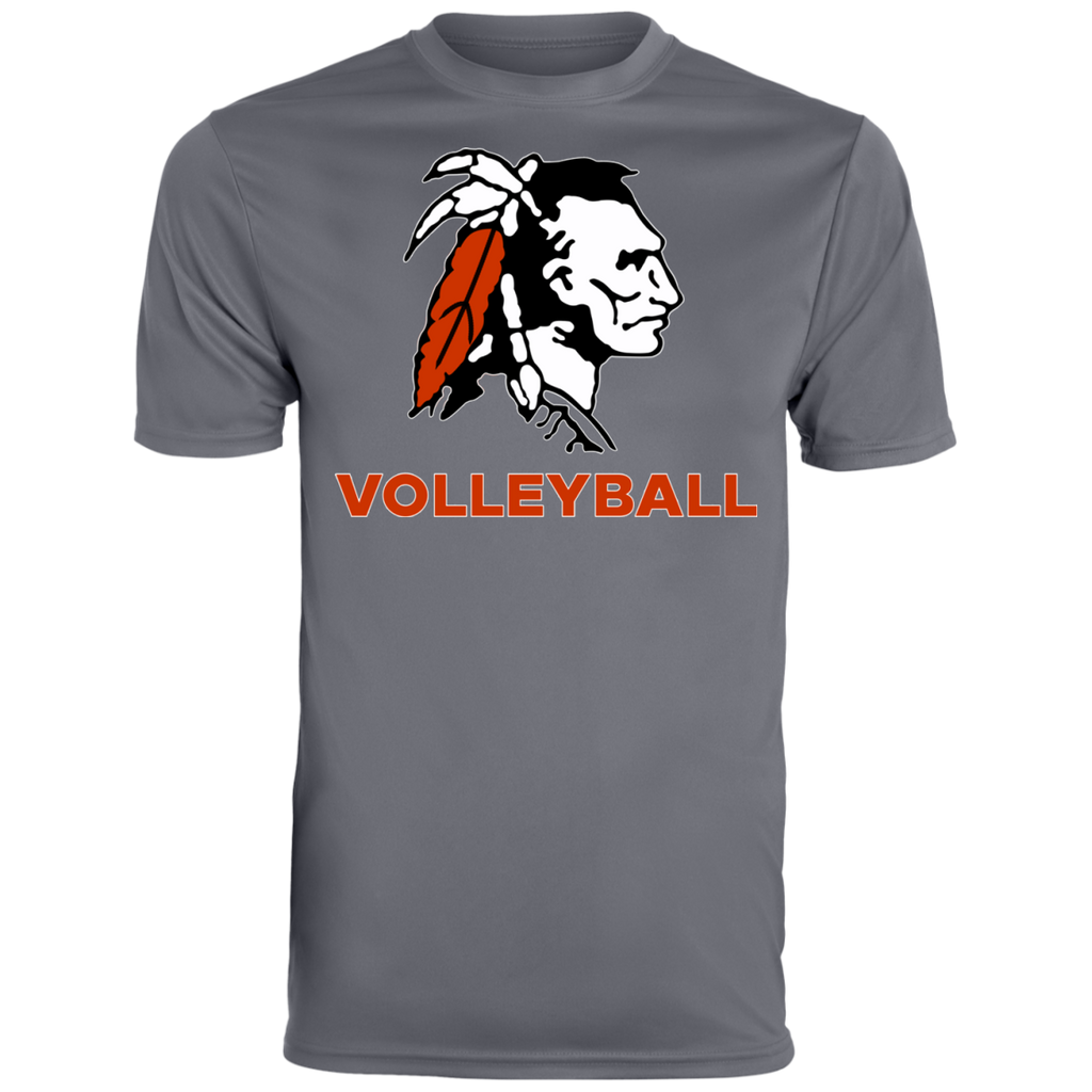 Men's Moisture Wicking T-Shirt - Cambridge Volleyball - Indian Logo