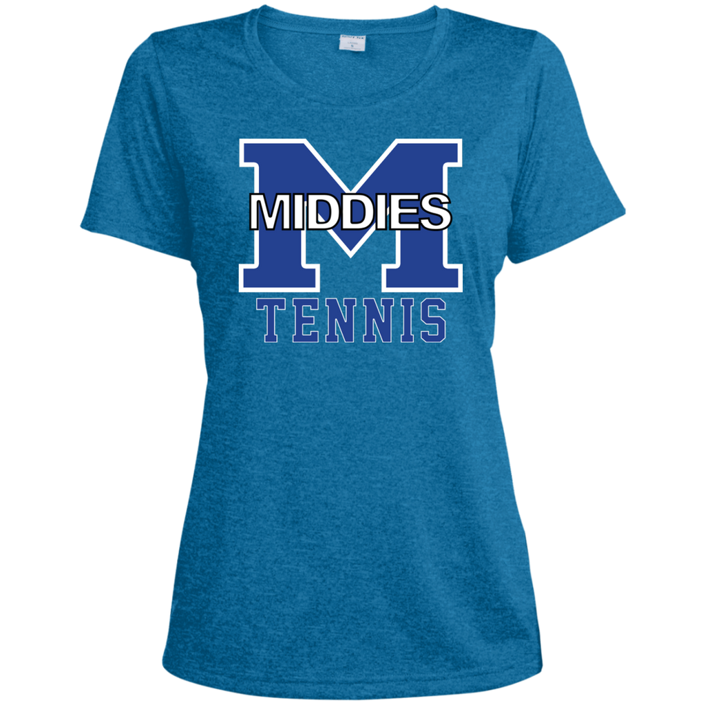 Women's Heather Moisture Wicking T-Shirt - Middletown Tennis