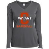 Women's Moisture Wicking Long Sleeve T-Shirt - Cambridge Baseball - C Logo