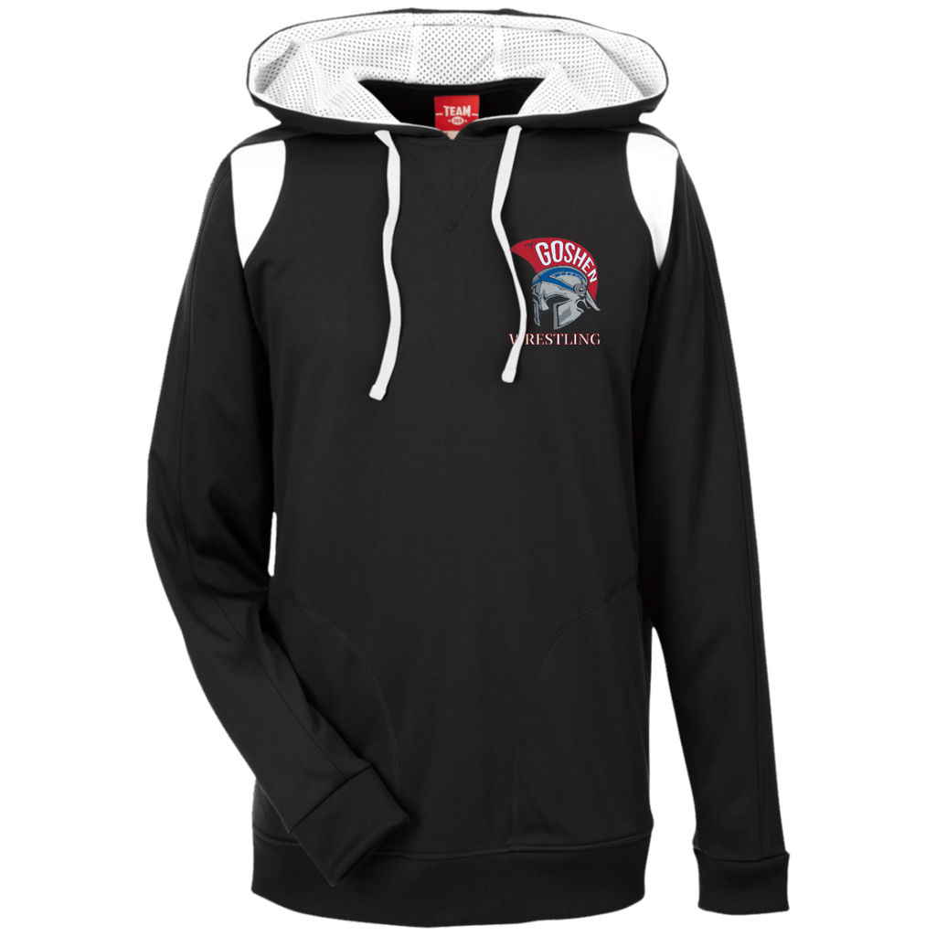 Men's Colorblock Hooded Sweatshirt - Goshen Wrestling