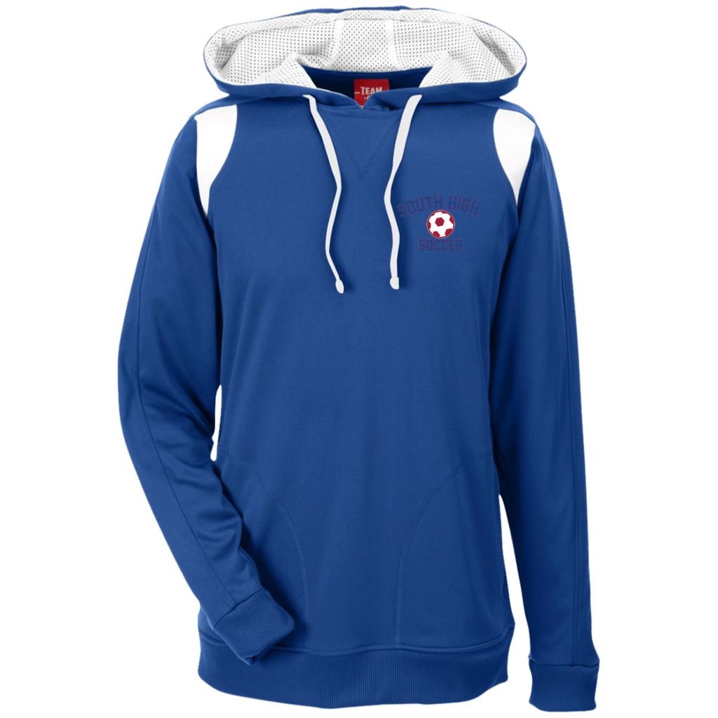 Men's Colorblock Hooded Sweatshirt - South Glens Falls Soccer