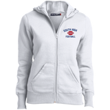 Football Vector Logo Outline_Pantone L265 Sport-Tek Ladies' Full-Zip Hoodie