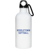 Water Bottle - Middletown Softball - Block Logo