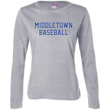Women's Long Sleeve T-Shirt - Middletown Baseball