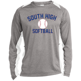 Heather Colorblock Long Sleeve T-Shirt - South Glens Falls Softball