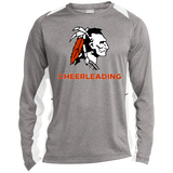 Heather Colorblock Long Sleeve T-Shirt - Cambridge Cheerleading - Indian Logo