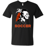 Men's V-Neck T-Shirt - Cambridge Soccer - Indian Logo