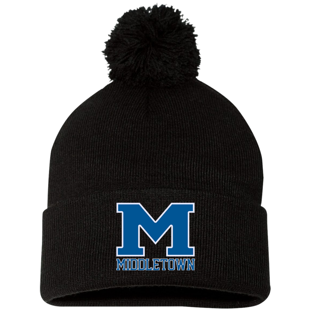 "Pom Pom Knit Winter Hat - Middletown ""M"""