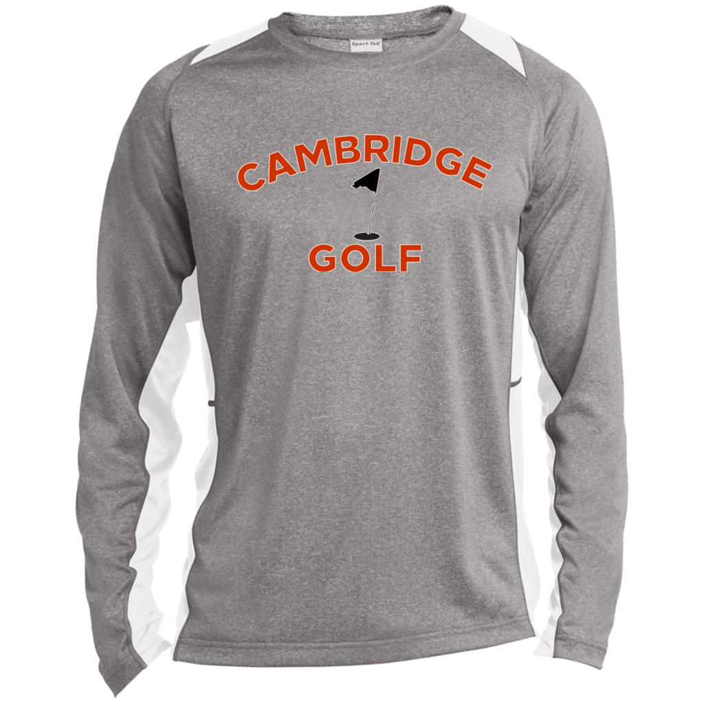 Heather Colorblock Long Sleeve T-Shirt - Cambridge Golf