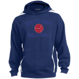 Colorblock Hooded Sweatshirt - South Glens Falls Volleyball