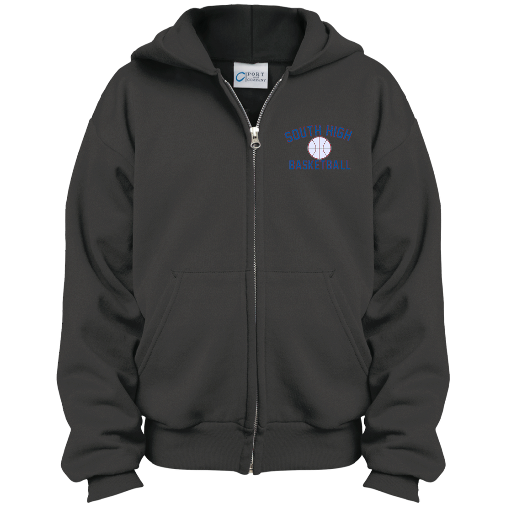 Youth Full-Zip Hooded Sweatshirt - South Glens Falls Basketball