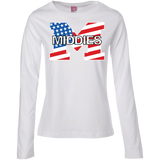 Women's Long Sleeve T-Shirt - Middletown American Flag