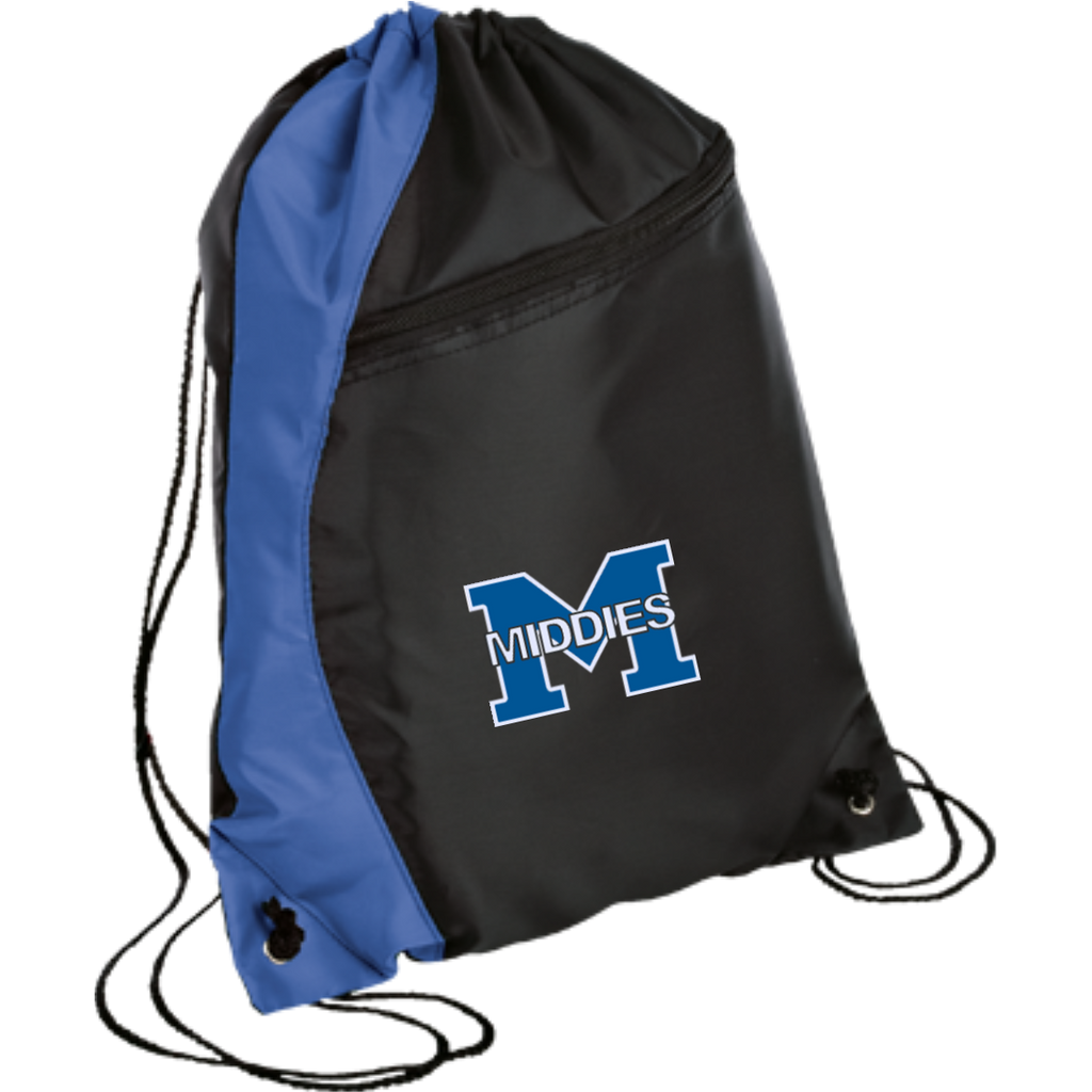 Drawstring Bag with Zippered Pocket - Middletown Middies
