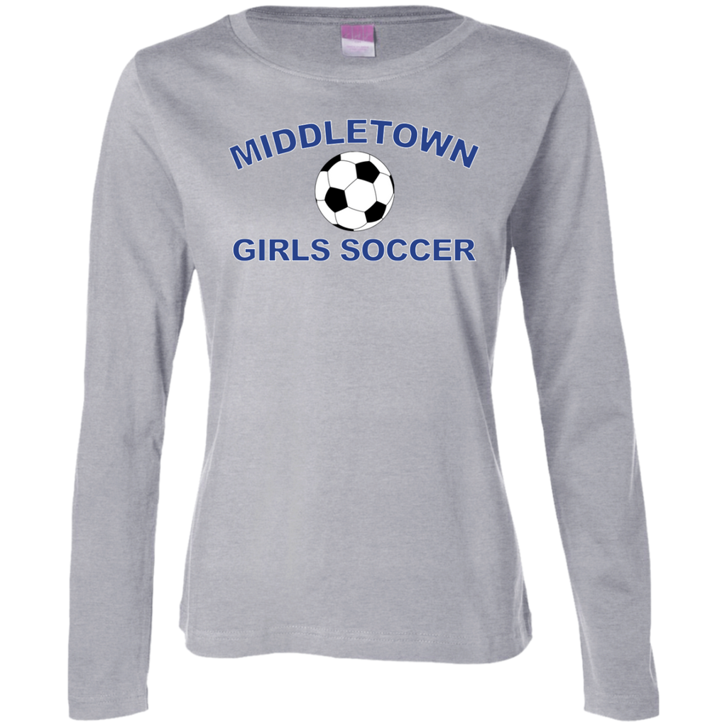 Women's Long Sleeve T-Shirt - Middletown Girls Soccer