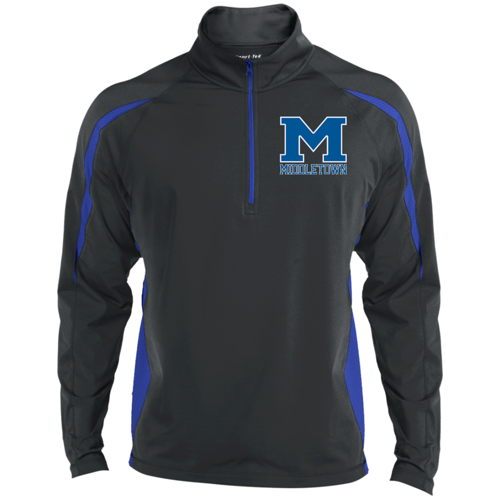 "Men's Sport Wicking Half-Zip - Middletown ""M"""