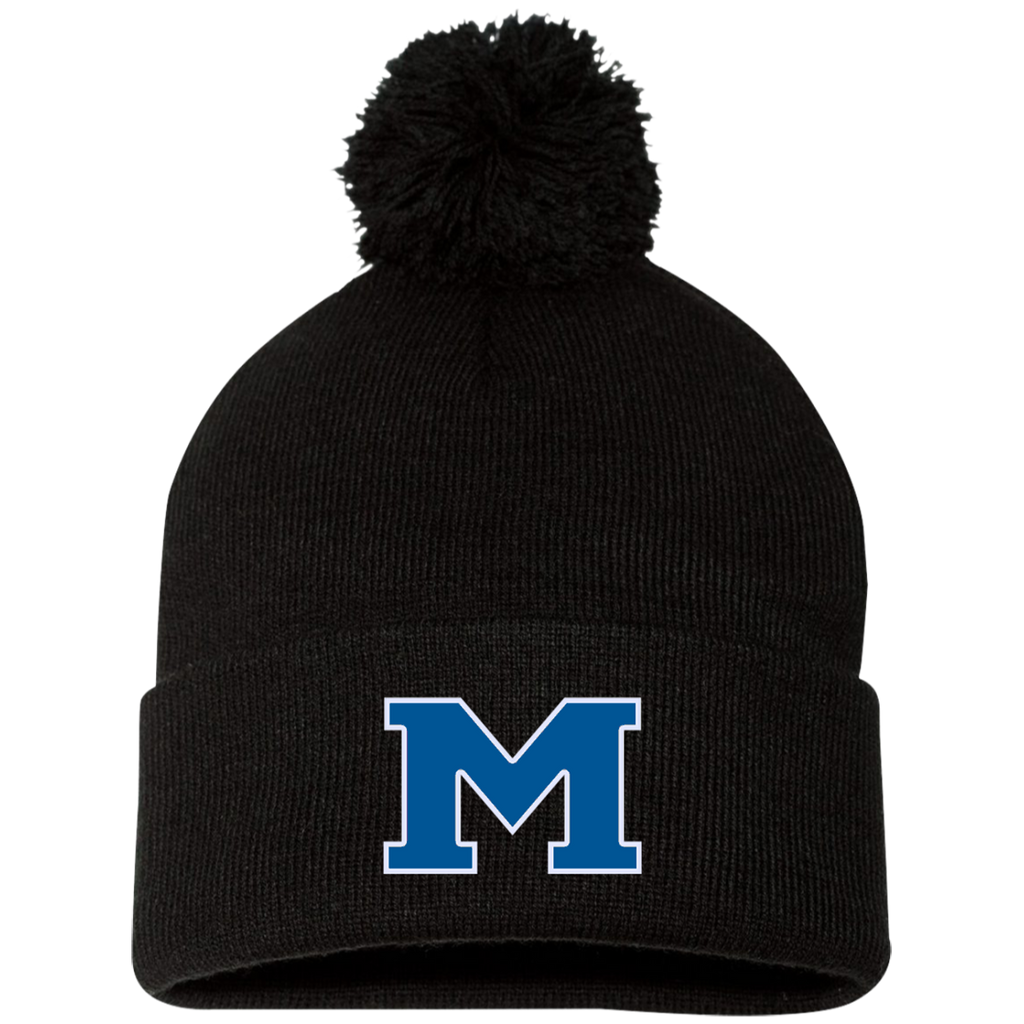 "Pom Pom Knit Winter Hat - Middletown Block ""M"""