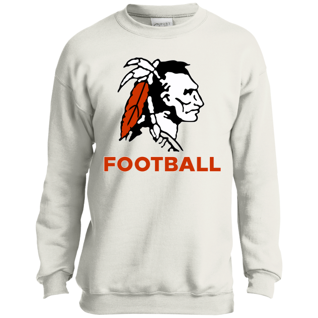 Youth Crewneck Sweatshirt - Cambridge Football - Indian Logo