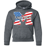 Youth Hooded Sweatshirt - Middletown American Flag