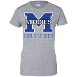 Women's Cotton T-Shirt - Middletown Middie Girls Soccer