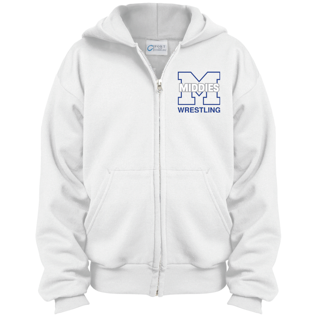 Youth Full-Zip Hooded Sweatshirt - Middletown Wrestling