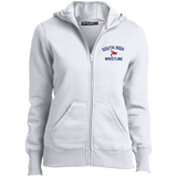 Wrestling Vector Logo v2 Outline_Pantone L265 Sport-Tek Ladies' Full-Zip Hoodie