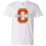 Men's V-Neck T-Shirt - Cambridge Indians - C Logo