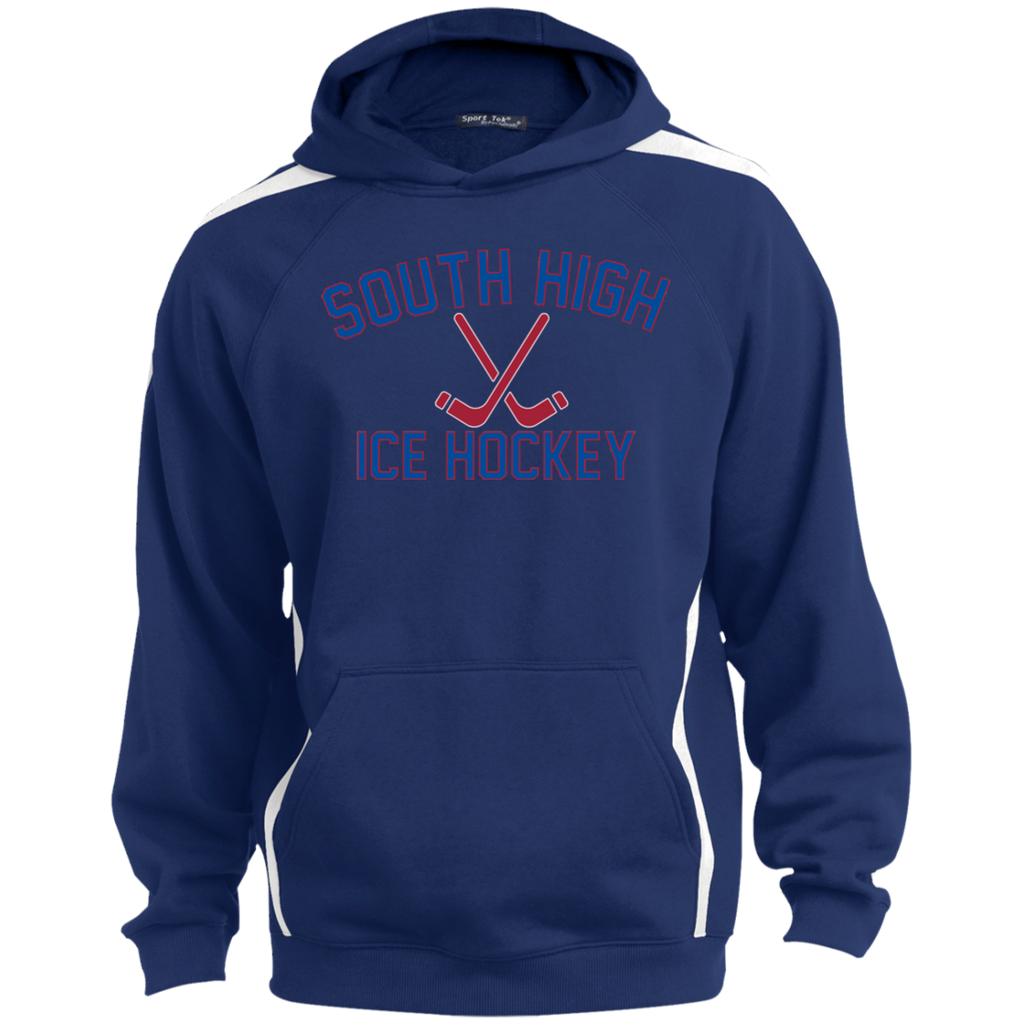 Colorblock Hooded Sweatshirt - South Glens Falls Ice Hockey