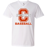 Men's V-Neck T-Shirt - Cambridge Baseball - C Logo