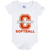 Baby Onesie 6 Month - Cambridge Softball - C Logo