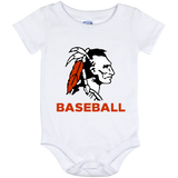 Baby Onesie 12 Month - Cambridge Baseball - Indian Logo