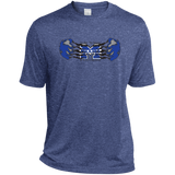 Men's Heather Moisture Wicking T-Shirt - Middletown Unified Basketball