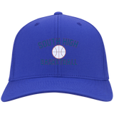 Basketball Vector Logo Outline_Pantone C813 Port Authority Flex Fit Twill Baseball Cap