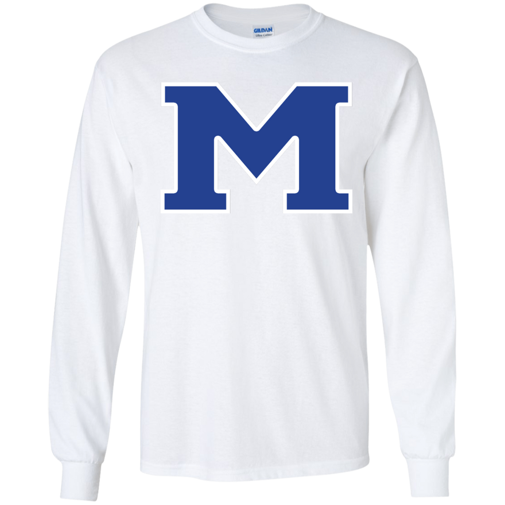 "Men's Long Sleeve T-Shirt - Middletown Block ""M"""