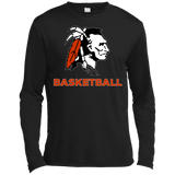 Men's Moisture Wicking Long Sleeve T-Shirt - Cambridge Basketball - Indian Logo