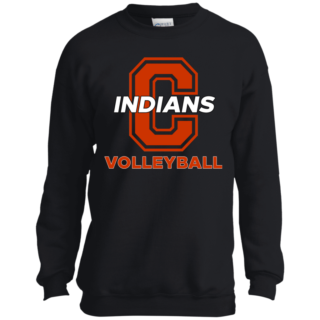 Youth Crewneck Sweatshirt - Cambridge Volleyball - C Logo