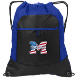 Drawstring Bag with Pocket - Middletown American Flag