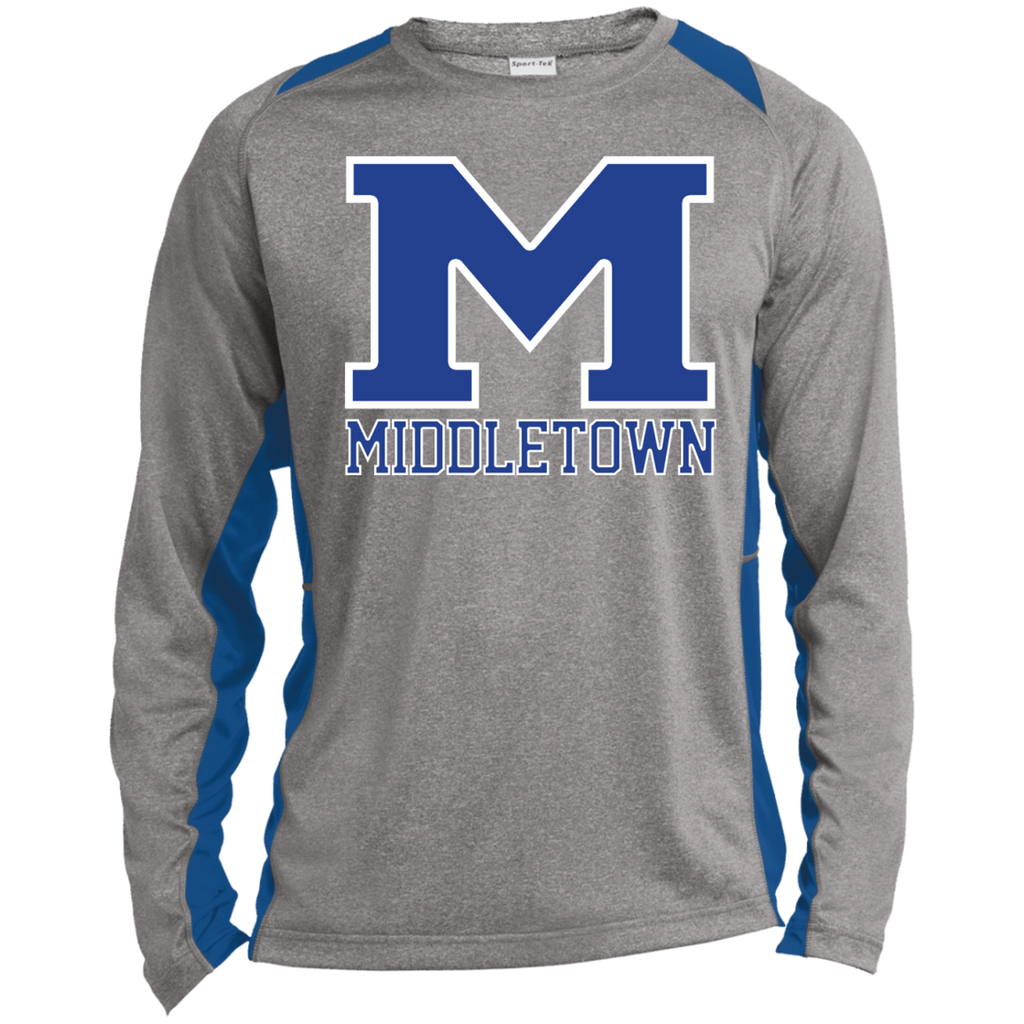 "Heather Colorblock Long Sleeve T-Shirt - Middletown ""M"""