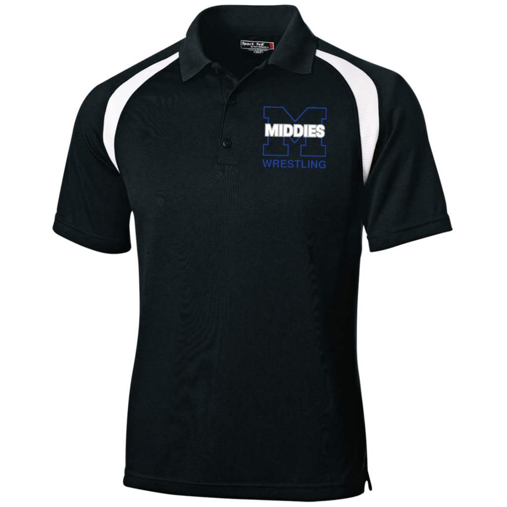 Men's Colorblock Slim Fit Moisture Wicking Polo - Middletown Wrestling