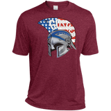 Men's Heather Moisture Wicking T-Shirt - Goshen American Flag