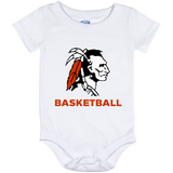 Baby Onesie 12 Month - Cambridge Basketball - Indian Logo
