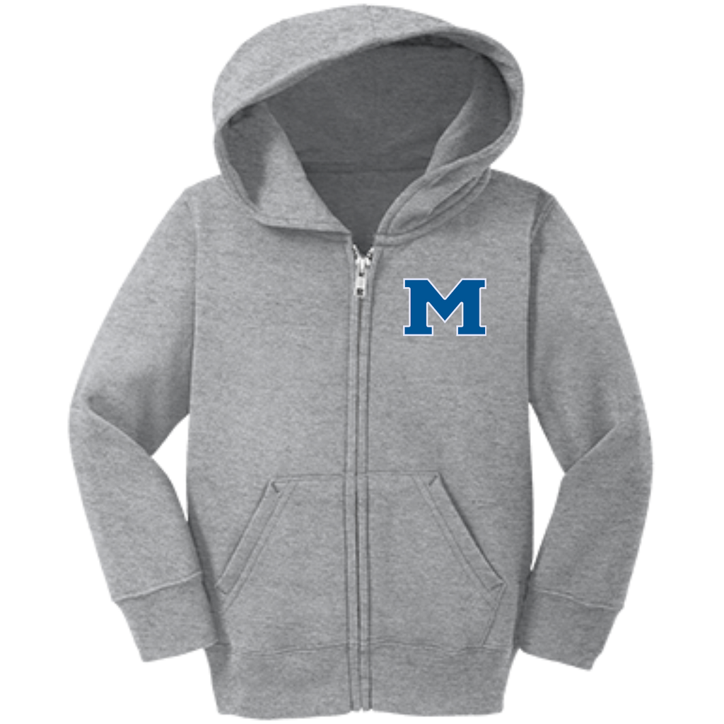 "Toddler Full-Zip Hooded Sweatshirt - Middletown Block ""M"""