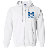 Men's Full-Zip Hooded Sweatshirt - Middletown Softball