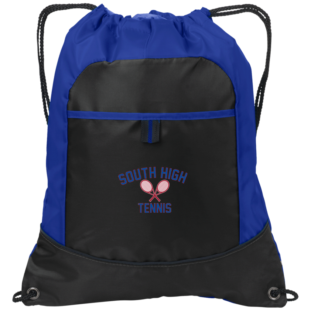 Drawstring Bag with Pocket - South Glens Falls Tennis